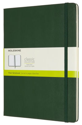 Moleskine Classic Notebook Myrtle Green XL Hard Cover, Book, Chronicle Books - LIESAS