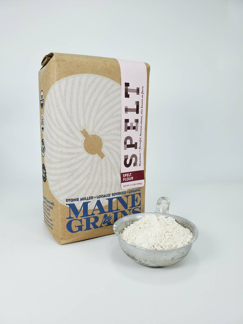 Grains - Organic Wheat Flour, Spelt Flour, Cracked Oats, and Pearled Farro, Food, Maine Grains - LIESAS