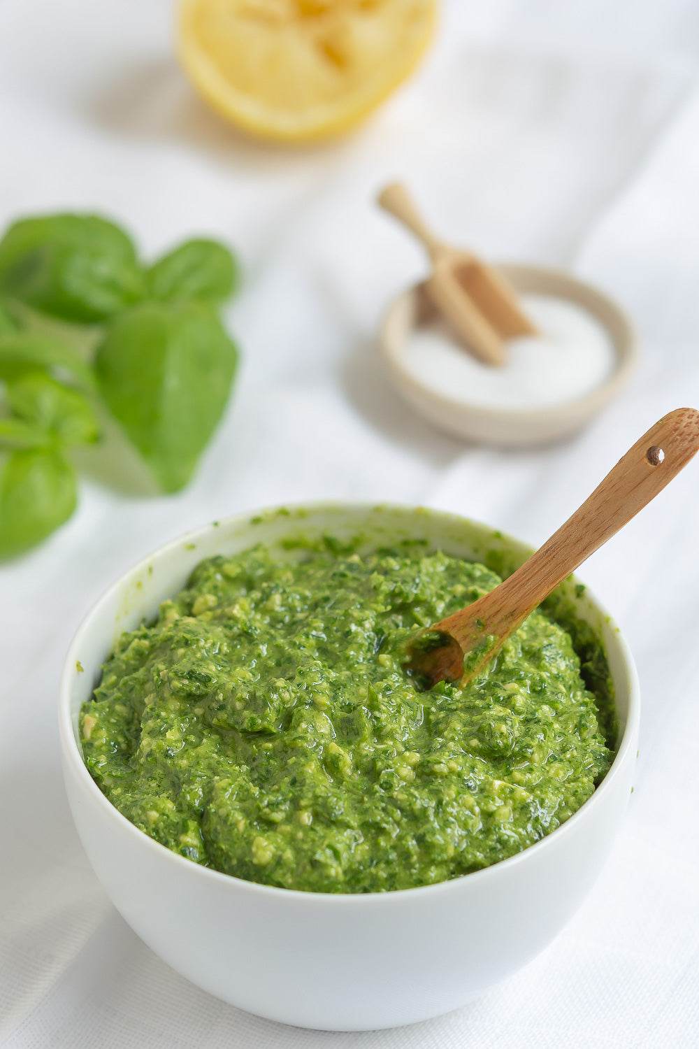 From Our Schools Kitchen to Yours Condiments - Vegan Basil Pesto, Freshly Made, Grocery, Anneliese Schools - LIESAS