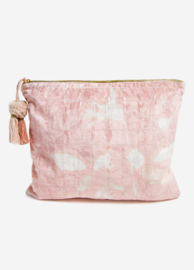 Printfresh Velvet Oversized Pouch