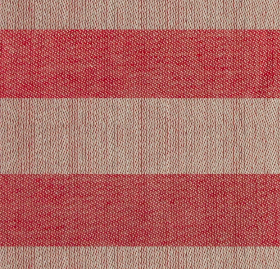 Vaxbo Lin JÄRV TABLECLOTH, Red & Moss Green Block Stripes