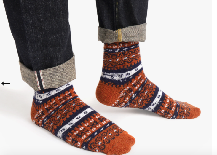 Fair Isle in Merino & Cashmere Blend Sock Collection by American Trench