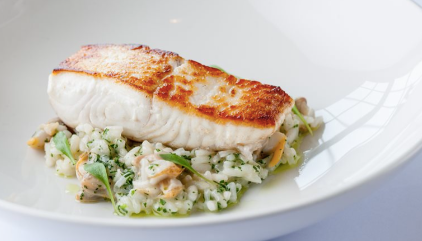 Cooking Kit - Pan-Seared Marinated Halibut Fillets with Risotto