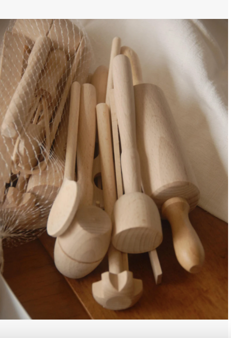 Children's Natural Wood Cooking Set