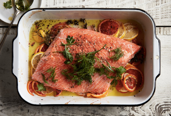 Cooking Kit - Slow-Roasted Citrus Salmon With Herb Salad