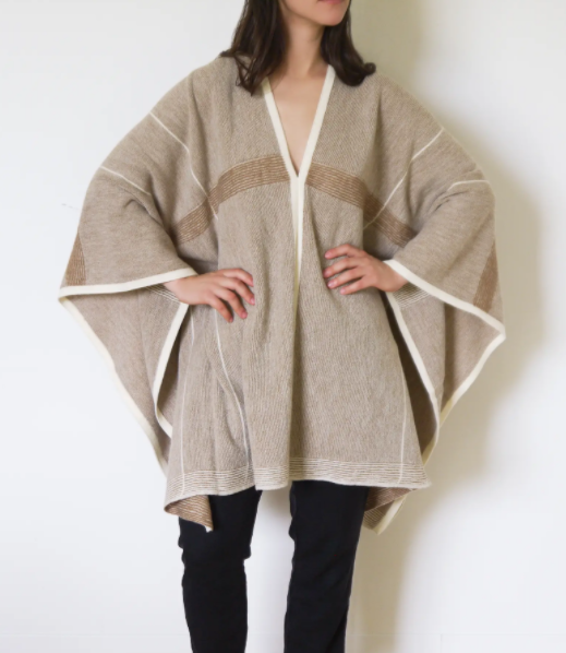 Alpaca + Wool Long Lines Poncho