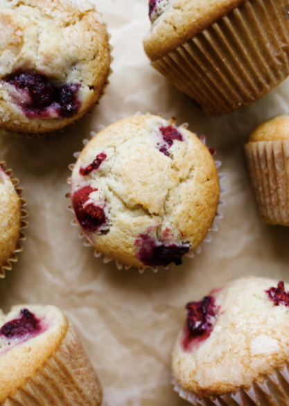 Bakery - Organic Muffins, Raspberry Lemon, Blueberry & Carrot, Freshly Baked in our Schools Kitchen PRE ORDER FOR THURSDAY