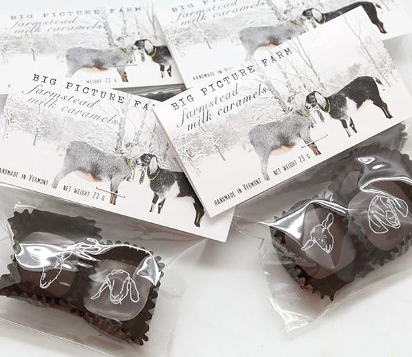 Chocolate Covered Goat Milk Caramels - 2 pieces by Big Picture Farm, Gourmet Grocery, Big Picture Farm - LIESAS