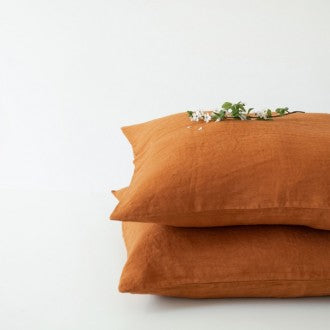 Washed Linen Pillow Case Collection by Linen Tales