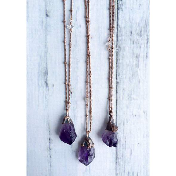 Raw Crystal Necklace Collection, Necklace, Hawkhouse - LIESAS
