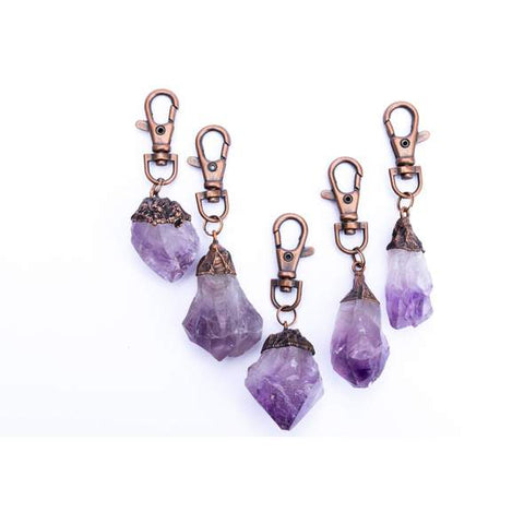 Raw Crystal Keychain Collection, Keychain, Hawkhouse - LIESAS