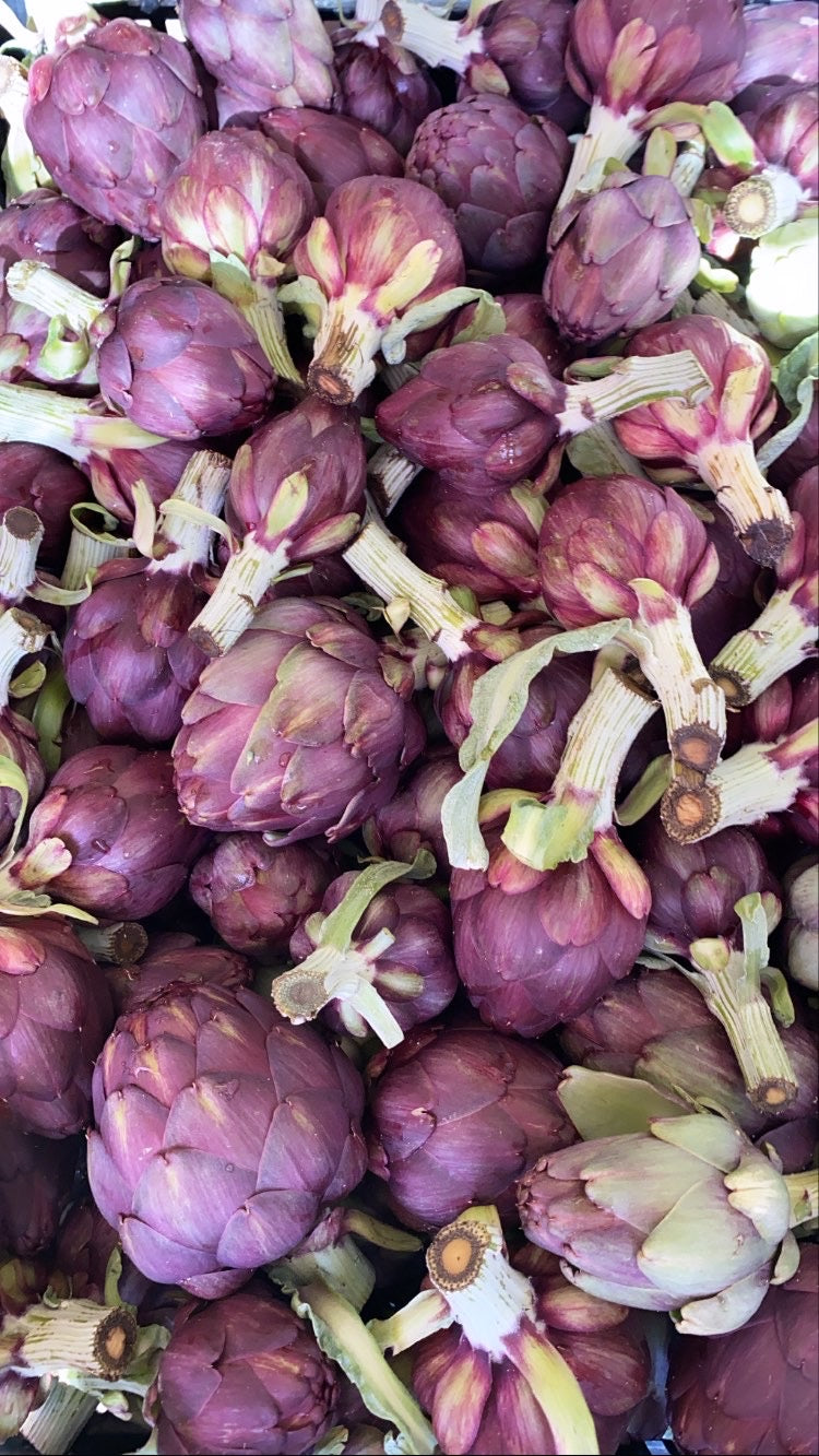 Vegetable - Organic Purple Artichokes, Baby