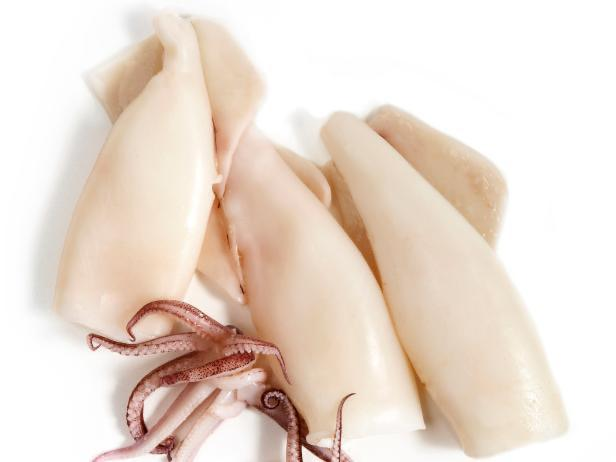 Seafood - Calamari, Locally Freshly Caught.  Flash Frozen