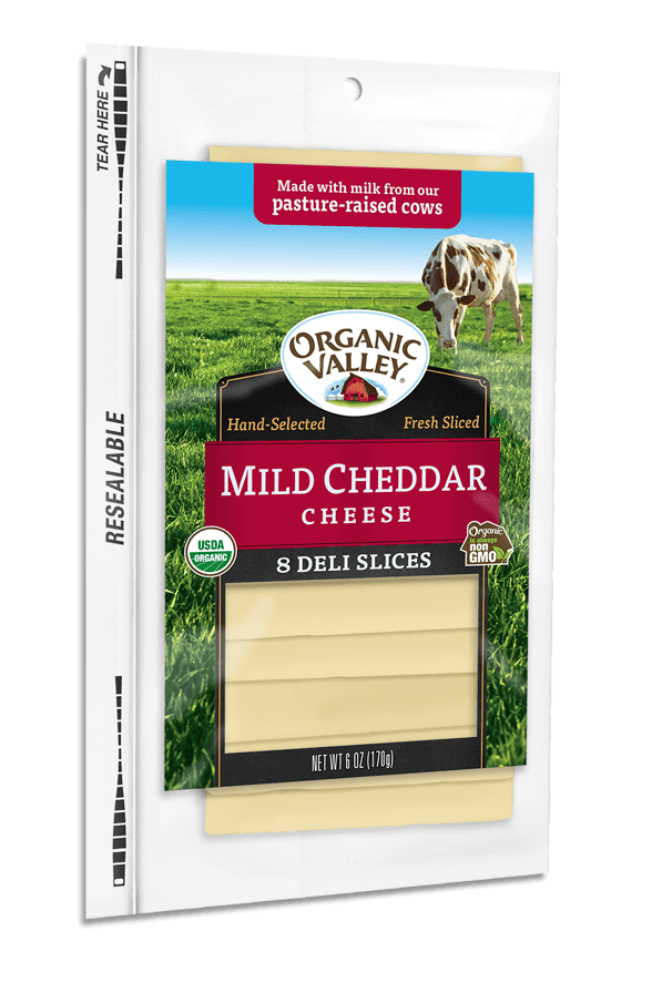 Dairy - Organic Valley Sliced Cheddar Cheese, Grocery, Anneliese Schools - LIESAS