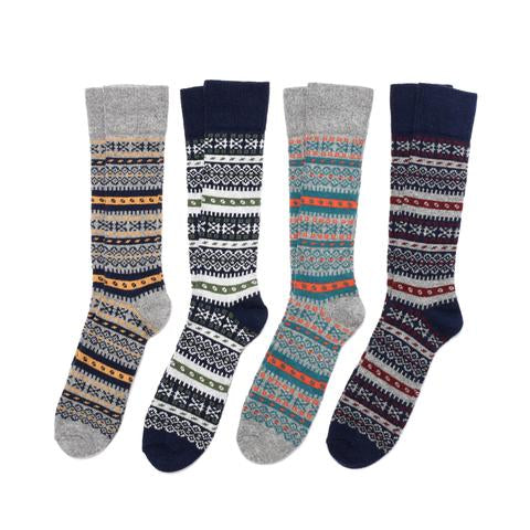 Fair Isle in Merino & Cashmere Blend Sock Collection