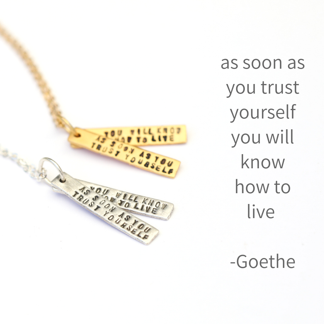 Quote Necklace Collection, Necklace, Chocolate and Steel - LIESAS