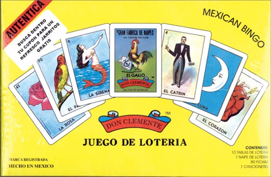 Mexican 'Bingo'  Loteria Card Set, Card Game, Tesoros - LIESAS