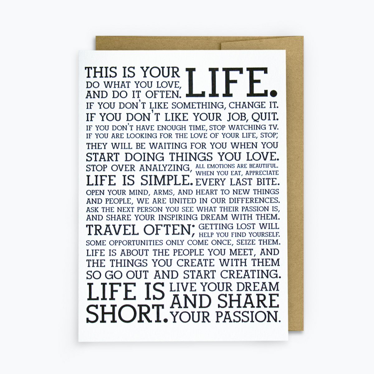 Manifesto Greeting Card, Card, Holstee - LIESAS