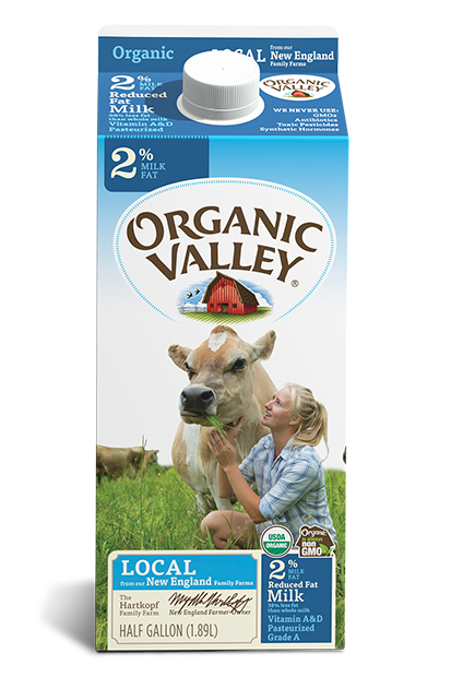 Dairy - Organic Valley Organic Milk, Reduced Fat, Grocery, Anneliese Schools - LIESAS