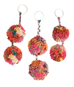 Pom Pom Key Ring Collection, Keychain, Tesoros - LIESAS