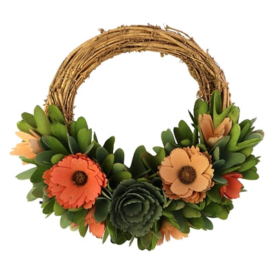 Wood Shaving Floral Wreath Collection