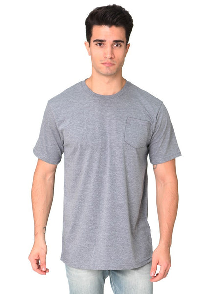 17057 Unisex 50/50 Blend Pocket Tee-yourzmart