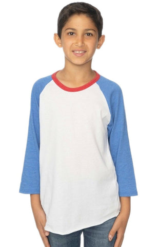 17220 Youth Americana Raglan Baseball Shirt-yourzmart