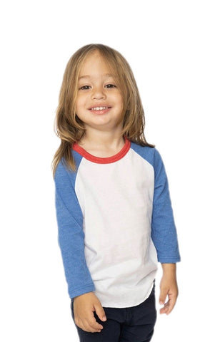 17660 Toddler Americana Raglan Baseball Shirt-yourzmart