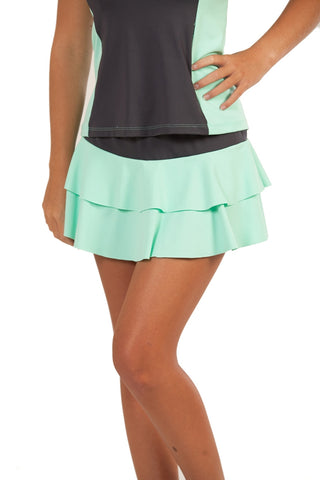 Summer League Collection Double Tiered Tennis Skirt