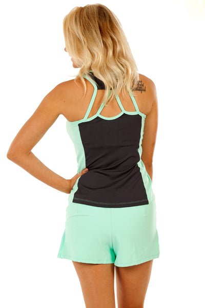 Summer League Solid Mint Tennis Skort