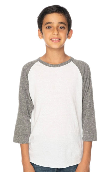 20260 Youth Triblend Raglan Baseball Shirt-yourzmart