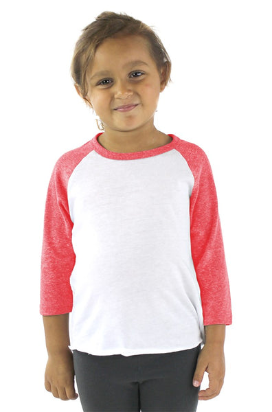 20660 Toddler Triblend Raglan Baseball Shirt-yourzmart