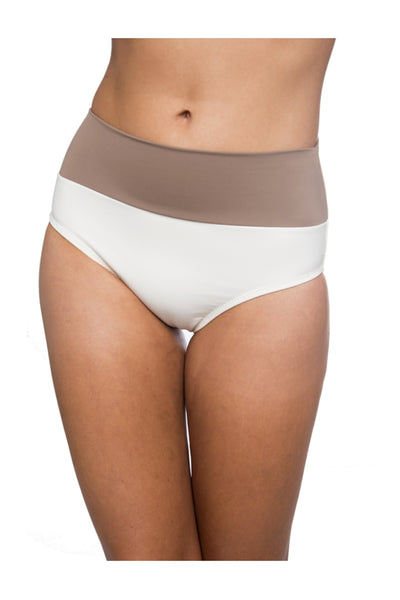 Crema Retro FoldOver Bottom with Mocha