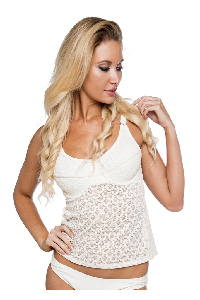 Crema Underwire Tankini Top with Lace