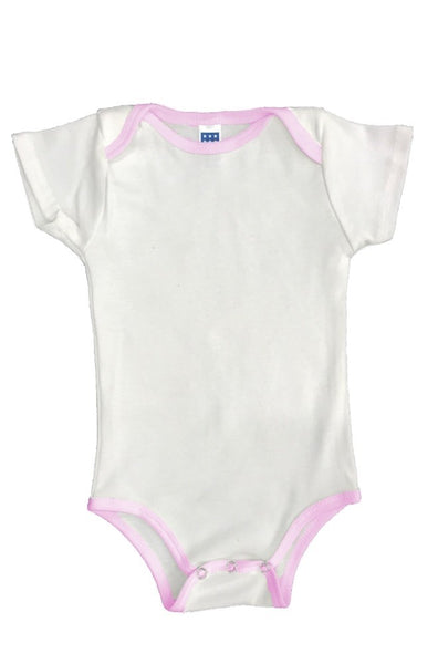2138ORG Organic Infant One Piece Contrast Binding-yourzmart