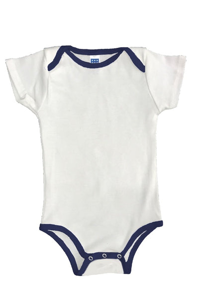 2138ORG Organic Infant One Piece Contrast Binding - yourzmart