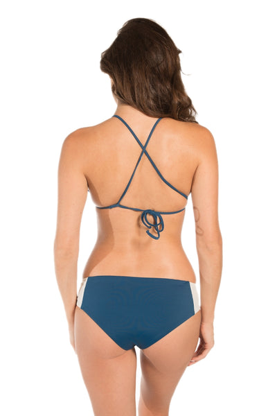Reversible Cabana Bottom in Sapphire and Crema - yourzmart