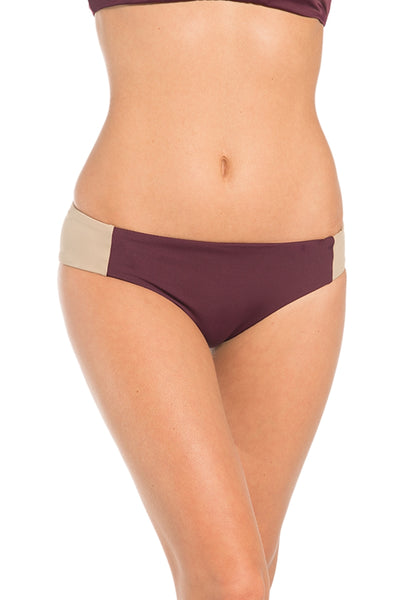 Reversible Cabana Bottom in Sangria and Sand - yourzmart