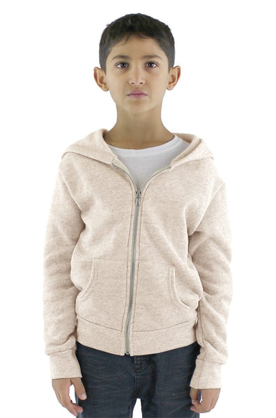 25020 Youth Triblend Fleece Zip Hoody-yourzmart
