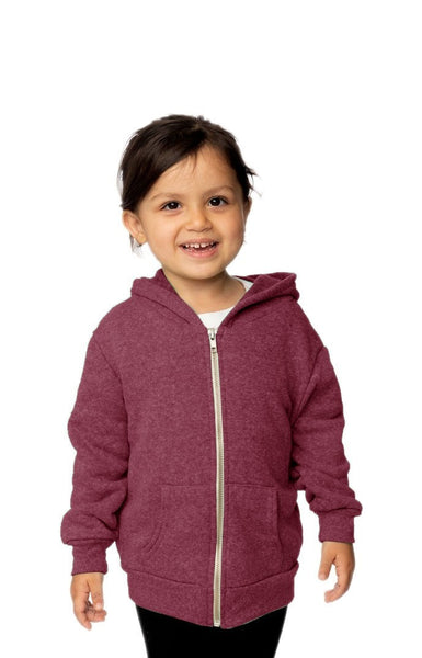 25060 Toddler Triblend Fleece Zip Hoody-yourzmart
