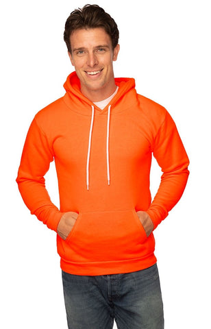 3155N Unisex Fashion Fleece Neon Pullover Hoody-yourzmart
