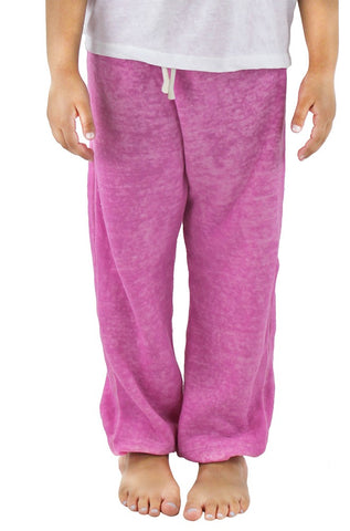 3680BO Kids Destroyed Wash Fleece Sweatpant-yourzmart