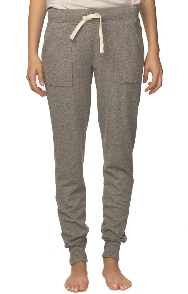 40017 Womens Triblend French Terry Jogger Pant-yourzmart
