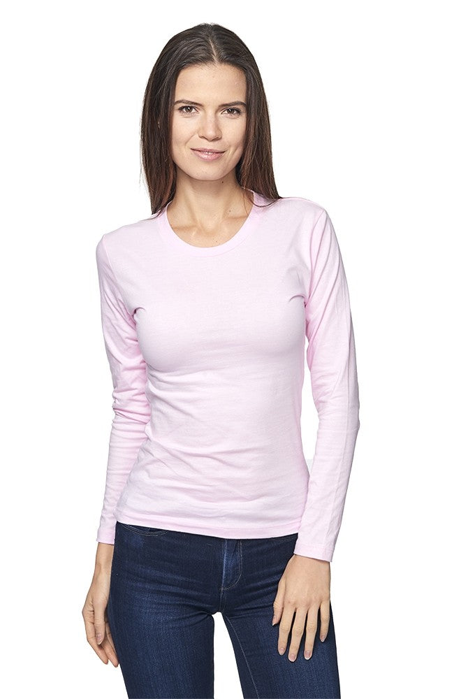 5002 Women's Long Sleeve Crew Tee-yourzmart