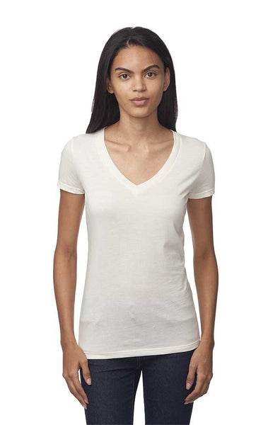 64030 Womens Viscose Hemp Organic V Neck-yourzmart