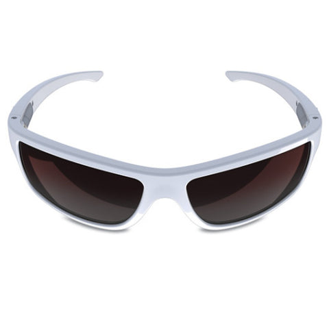 Charlie V – White Sunglasses, Rose Gradient Lens – Made in USA-yourzmart