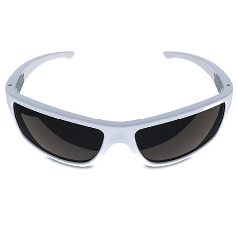 Charlie V – White Sunglasses, Smoked Black Lens – Made in USA-yourzmart