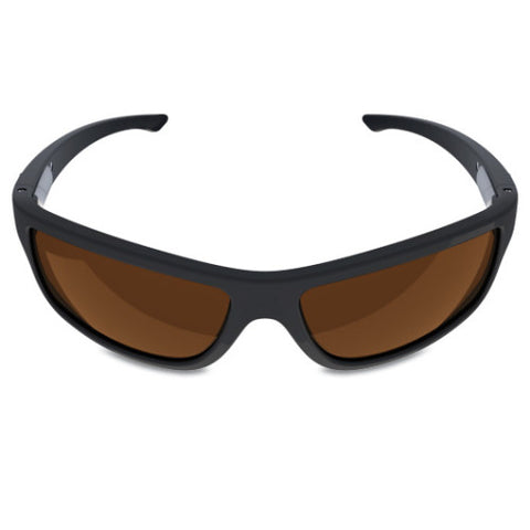 Charlie V – Matte Black Sunglasses, Smoked Brown Lens – Made in USA-yourzmart