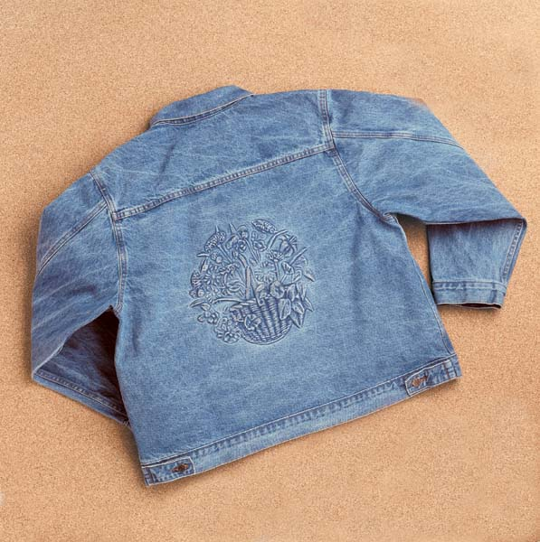 Embossed Denim Women's Jacket (W32)(Made to order shipping time may vary)-yourzmart