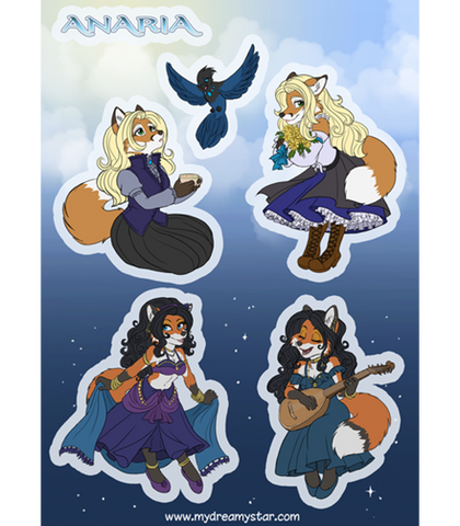 Kaylee and Mahri Sticker Sheet